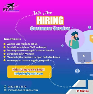 Customer Service di PT IKE (Indone Kargo)