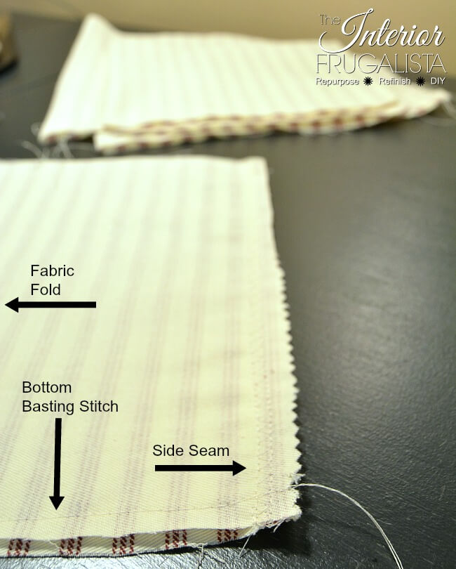 Ticking Fabric Pumpkins Side Seam