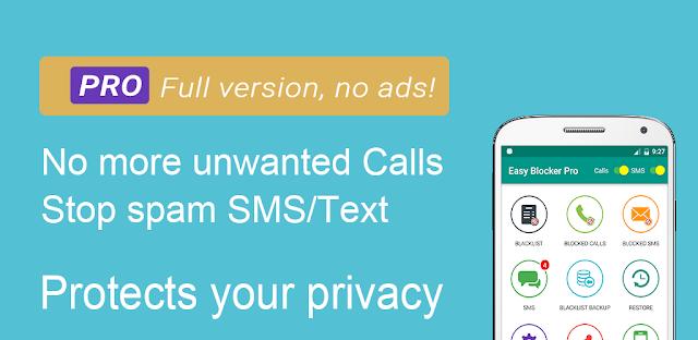 تنزيل Blacklist - Call and SMS blocker Pro - حظر احترافي للمكالمات  ورسائل SMS لنظام الاندرويد