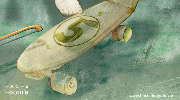 Ilustración para poster, Fly baby Fly (detalle)