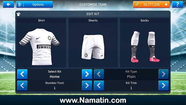 Kostum Dream League Soccer Inter Milan