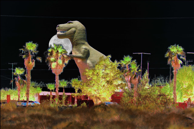 T-rex In The Desert Night