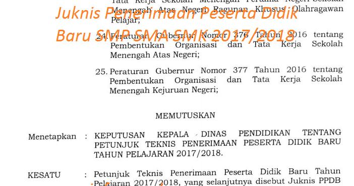 Juknis Penerimaan Peserta Didik Baru SMP SMA SMK 2017/2018 ...