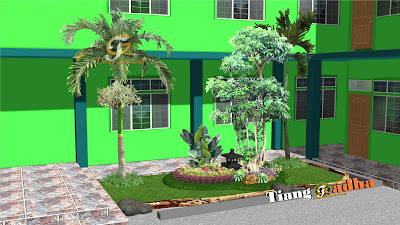 taman halaman samping rumah