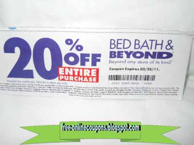 BED BATH AND BEYOND 20 OFF ENTIRE ORDER COUPON