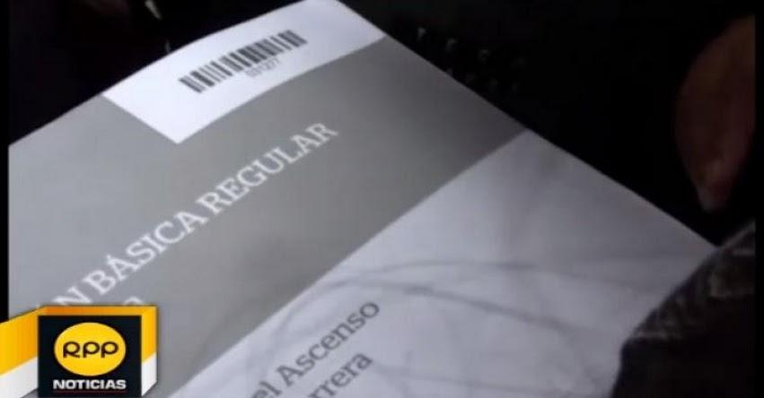 Denuncian que cuadernillos de preguntas para Examen de Ascenso habría salido antes de su aplicación [VIDEO]