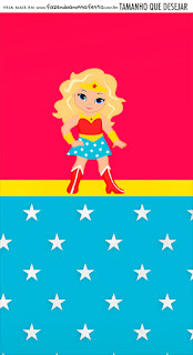 Blondie Wonder Woman Free Printable Invitations and Candy Bar Labels.