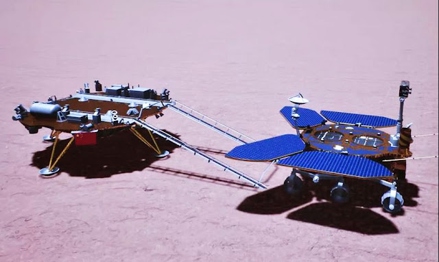 China's Mars Rover Touches Ground On Red Planet