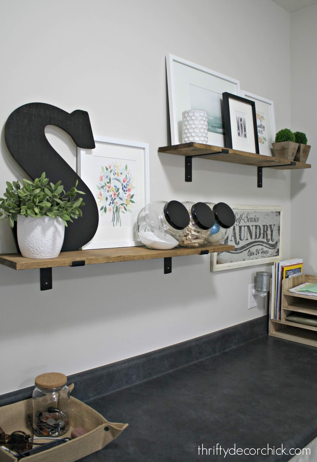 Inexpensive printable art for laundry room