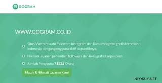 gogram - situs auto followers instagram
