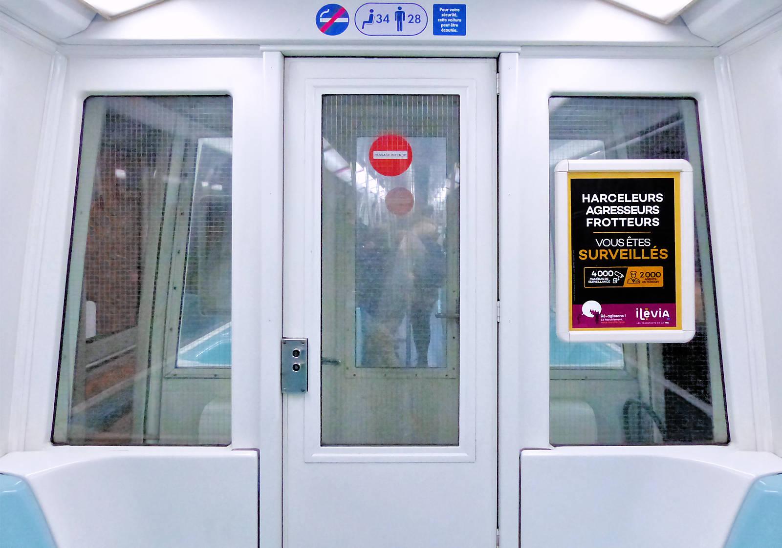 Métro Tram - Affichage Anti-frotteurs