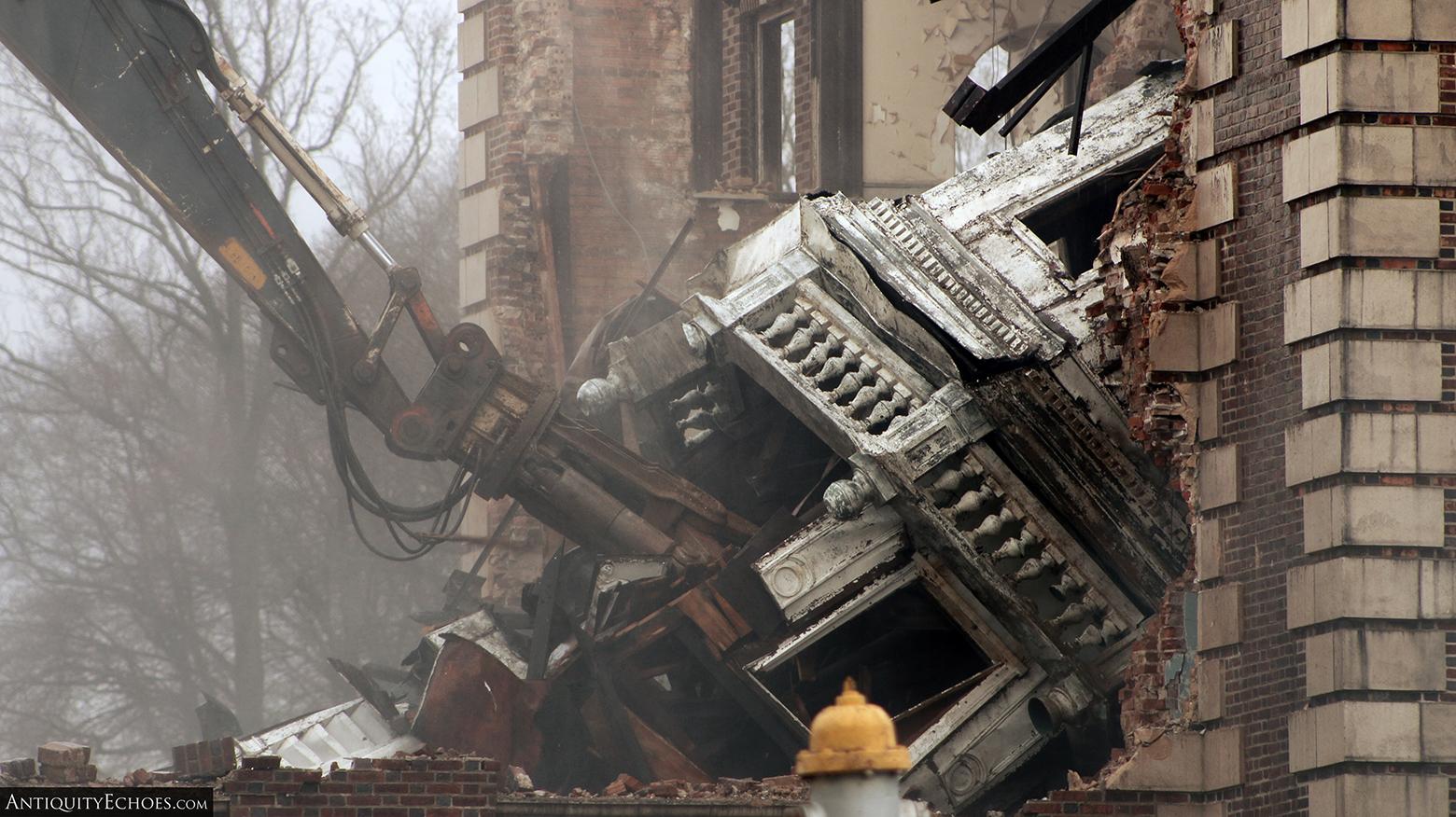 Allentown State Hospital - Demolition - Fallen Spire Detail