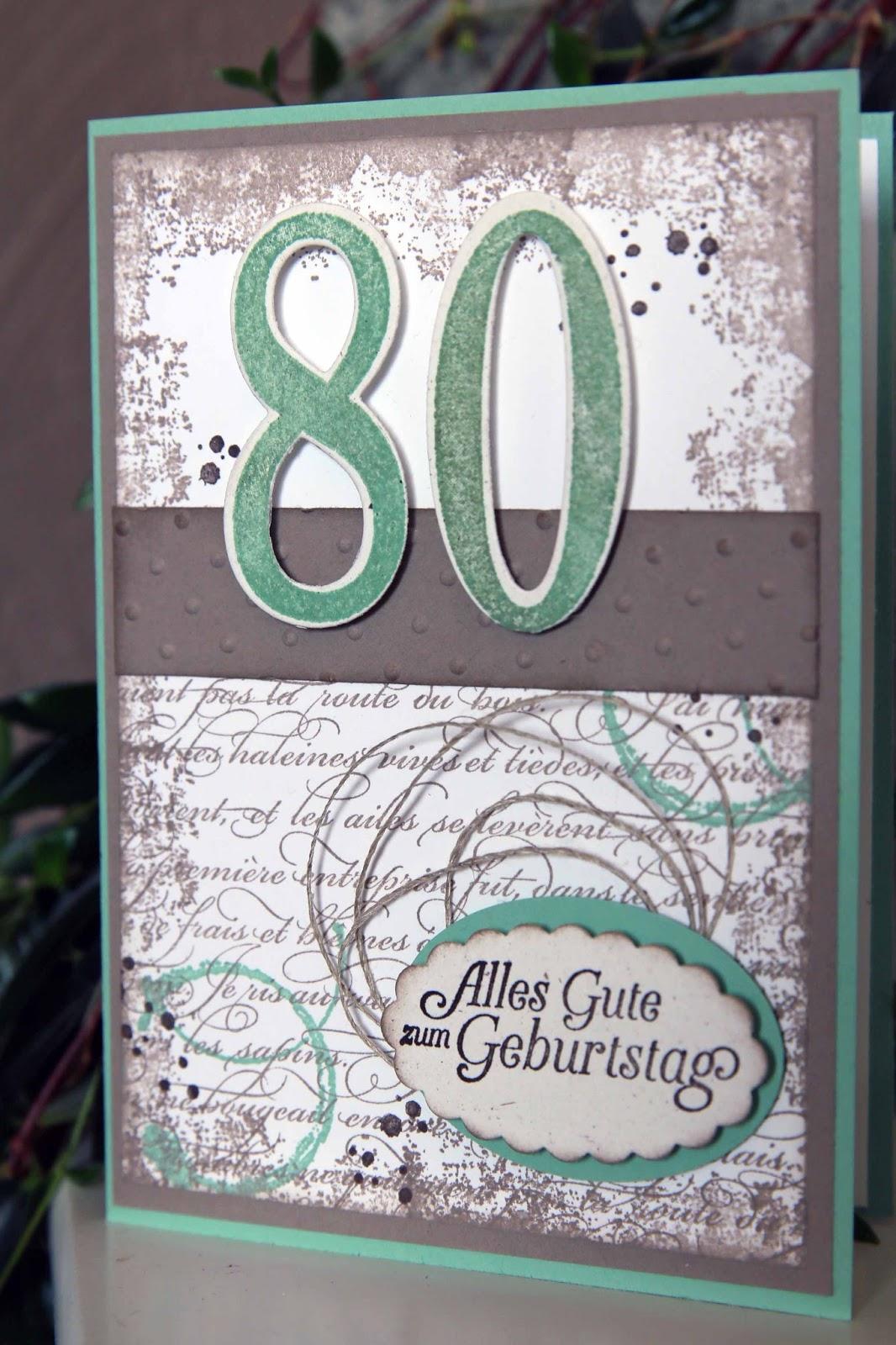 Papier stempel co zum 80 geburtstag - Geschenke zum 80 geburtstag selber basteln ...