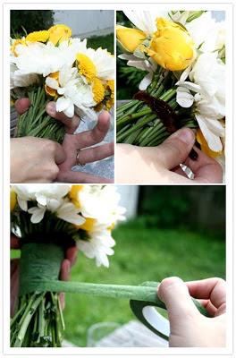 diy wedding day bouquet
