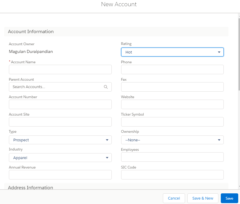 Infallible Techie: force:createRecord example in Salesforce
