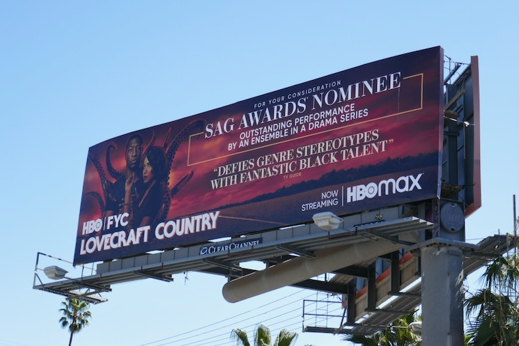 Lovecraft Country 2021 SAG Awards nominee billboard
