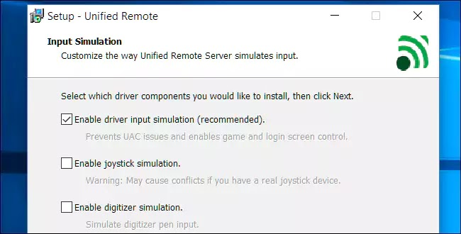 Unified Remote تنصيب