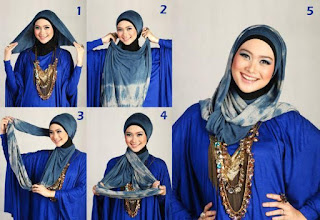 Kreasi Hijab Segi Empat Pashmina