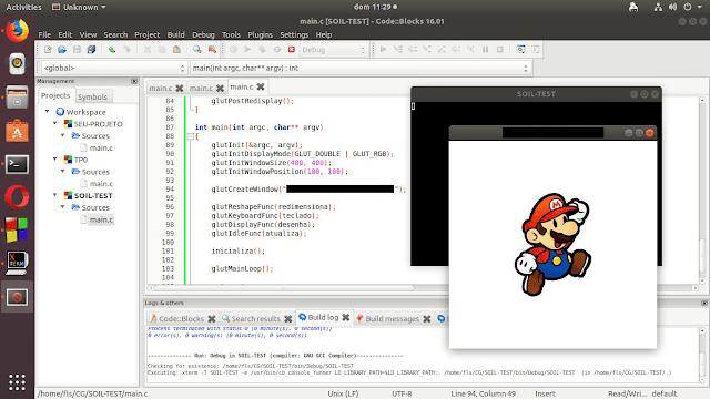 Como configurar OpenGL e SOIL no Ubuntu usando CodeBlocks