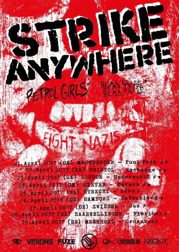 Strike Anywhere announce European Tour 2017