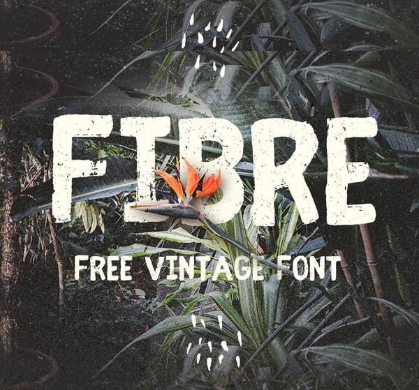 Brush font terbaik 2017 - Fibre (Vintage) – Free Brush Font