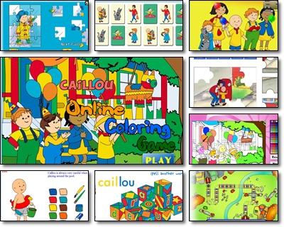 Juegos Infantiles Online Juegos Caillou Para Ninos De 4 A 6 Anos