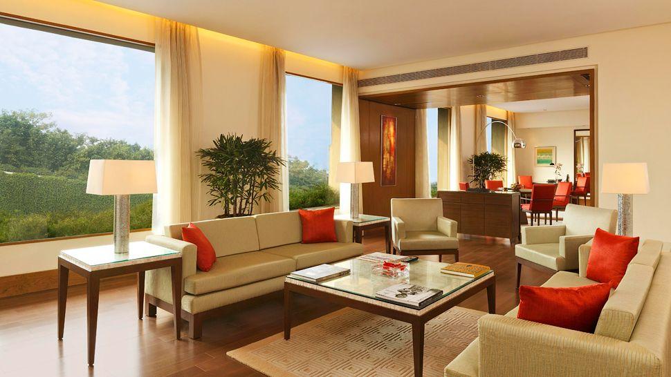 Beige Brown Living Room