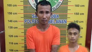 Dua Pria Pengedar Narkotika Berhasil di Tangkap Sat Res Narkoba Polres Belawan