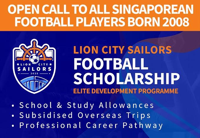 Open call to all Singaporean players born 2008: Earn a football scholarship!