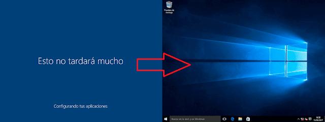 Windows 10: Escritorio.