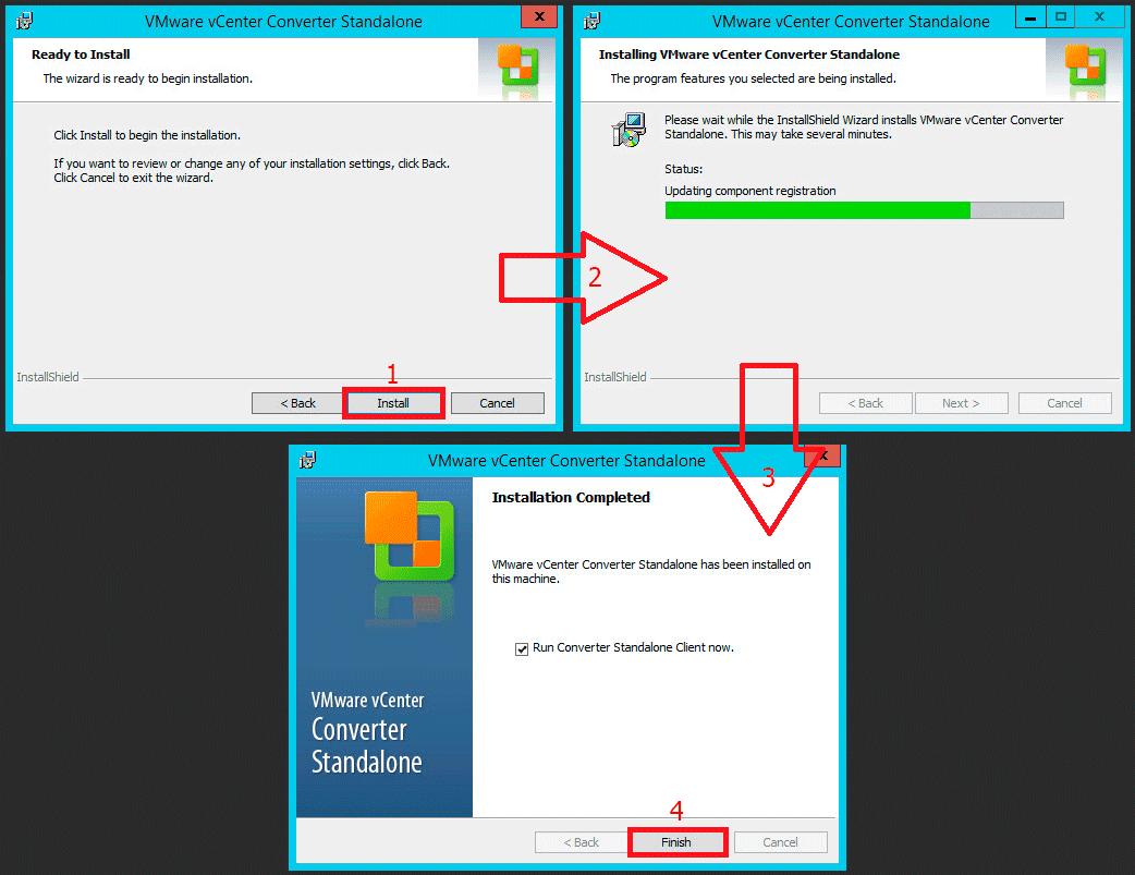 Pantallazos es: VMware vCenter Converter Standalone 6 1 1