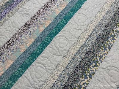 Sue's Quilt SOS Liberty stripe quilt