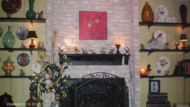 Brick fireplace painted with brick a new