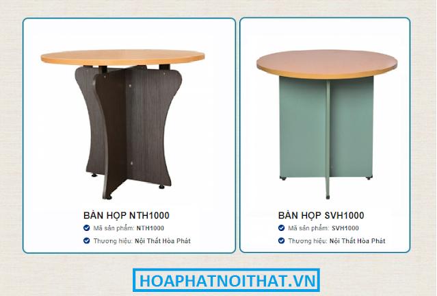 2 mẫu bàn họp tròn giá rẻ của Hòa Phát