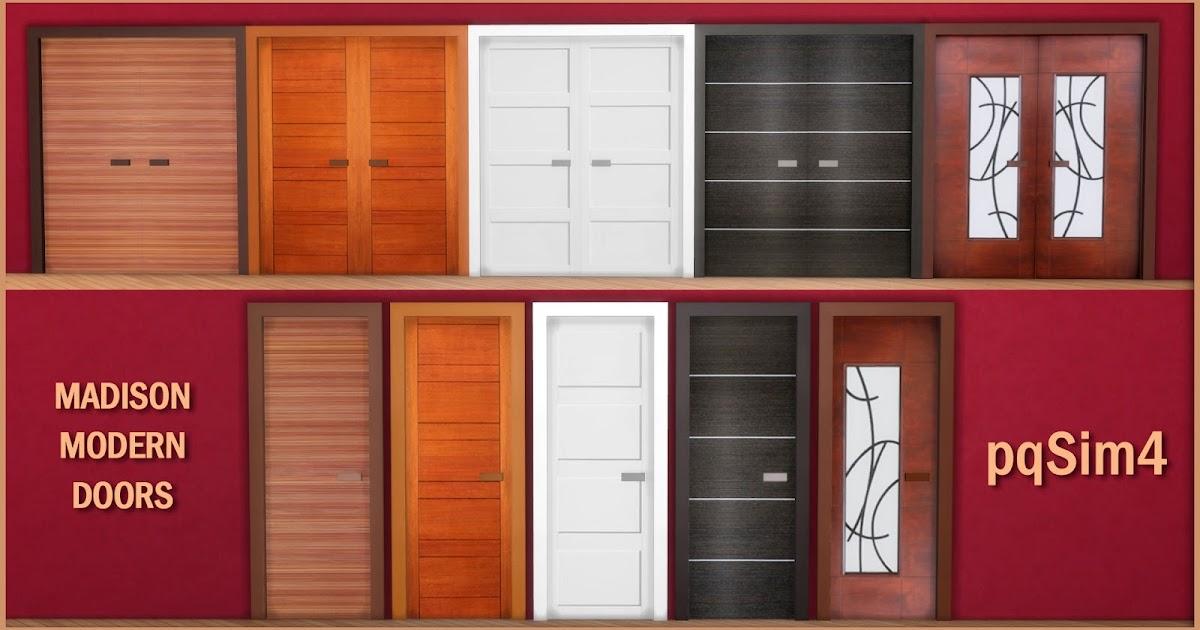 Madison Modern Doors Sims 4 Custom Content