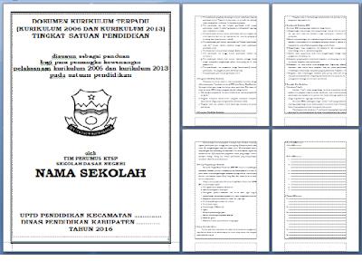 File Dokumen Sekolah Contoh KTSP SD Hasil Revisi Tahun Ajaran 2016/2017