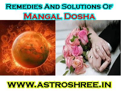 best solution of mangal dosha in horoscope