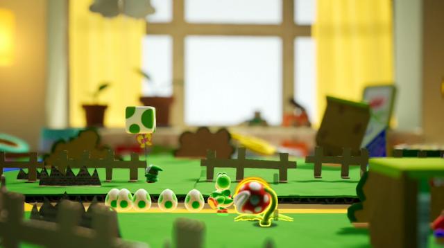 Yoshi 2018 Nintendo Switch foreground Piranha Plant aiming layers