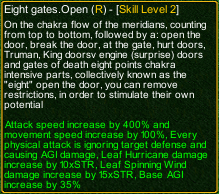 naruto castle defense 6.52 Rock Lee Eight gates.Open detail