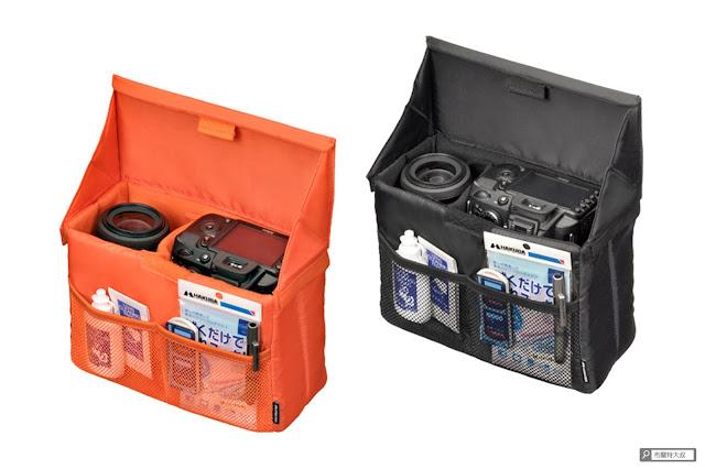【開箱】輕巧收納好方便,HAKUBA 可折相機內袋 - HAKUBA 的內袋品質不錯,有橘、黑、灰色可供選擇