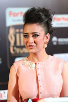 Akshara Haasan in Peachy Crop Top Choli Skirt at IIFA Utsavam Awards 50.JPG