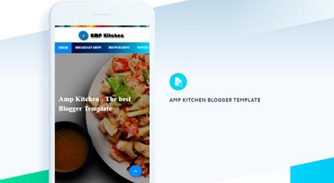AMP KITCHEN - Plantilla de Blogger gratis en Amp HTML