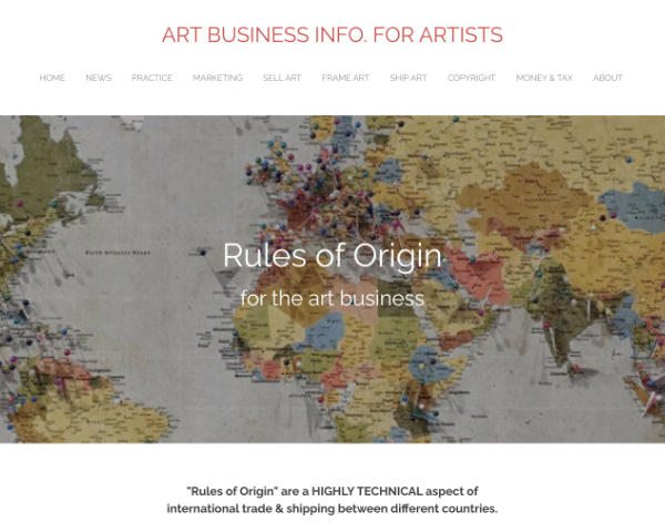 rules of origin for art business