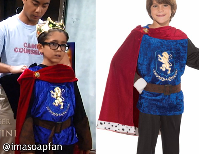 Spencer Cassadine's King Richard III Costume - General Hospital, Season 54, Episode 08/04/16