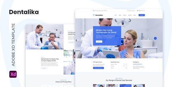 Best Dental clinic Adobe XD Template