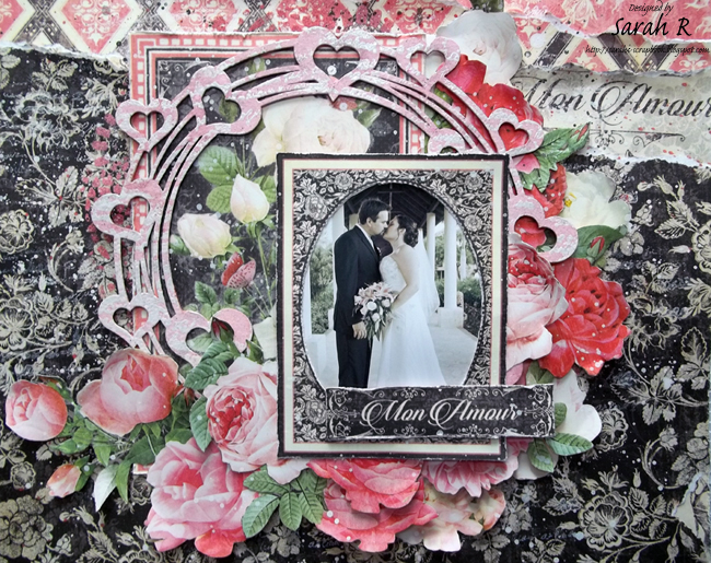 Scattered Pictures and Memories: Mon Amour Layout ~ Creative Embellishments