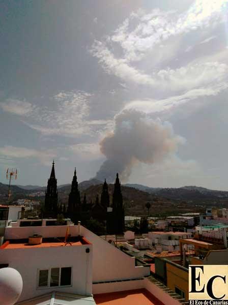 Incendio forestal, Valleseco, de gran potencia