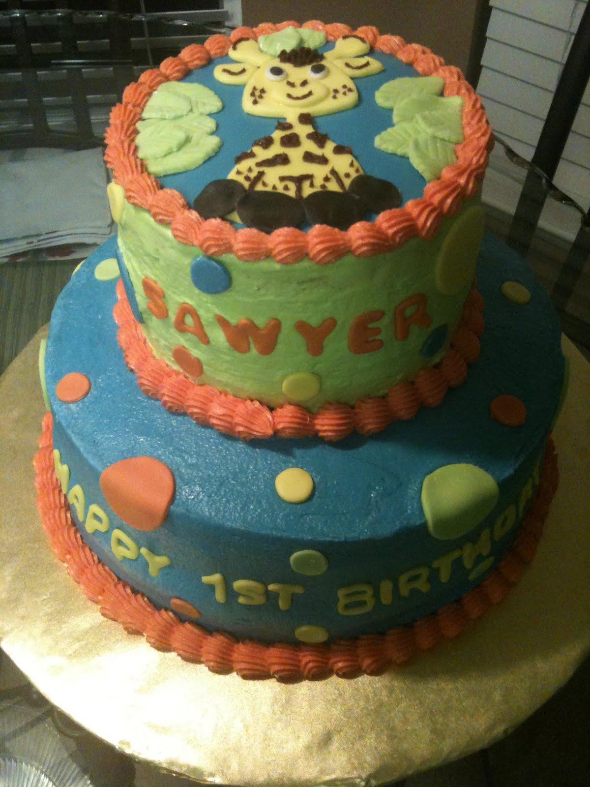 Cakes By Joanna Giraffe Birthday Cake