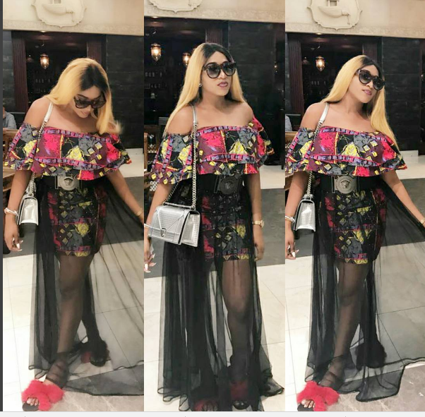 Beautiful New Photos Of Rukky Sanda In Her Print Dress