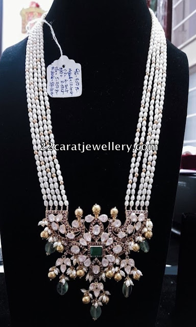 Rice Pearls Long Chain with Pendant